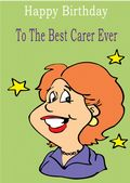 Carer - Greeting Card